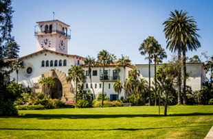 Old courthouse in Santa Barbara, California